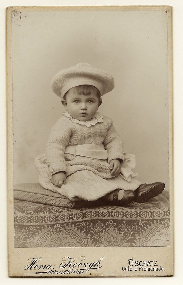 Incredibly Adorable And Fashionable Child In Oschatz Germany Carte De Visite