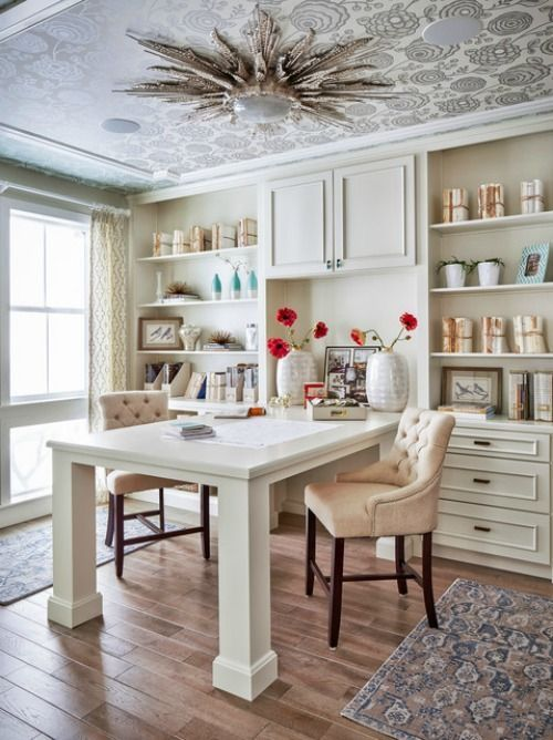Sharing A Home Office (Love the ceiling light fixture!) ~~ IMG_2682.JPG