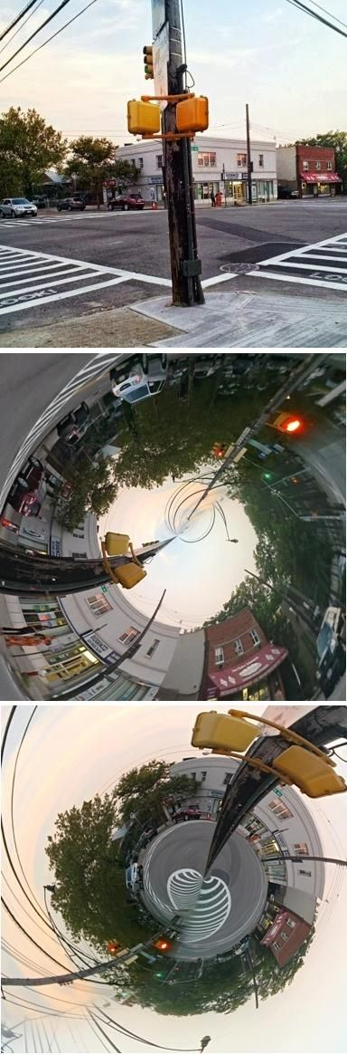 This is the intersection of Williamsbridge Road and Morris Park Avenue in the East Bronx as seen through Google Glass, and the Tiny Planet app. This is one of the stops along Morris Park Avenue where you can catch the Morris Park Express Bus (BxM10) to and from midtown Manhattan.