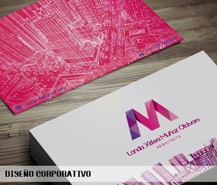 Diseño de tarjeta de presentación de la arquitecta LANDA MUÑOZ