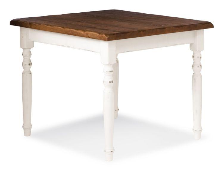 Cheap tavolo con gambe tornite bicolore in pino massello for Sgabelli e tavoli alti per bar