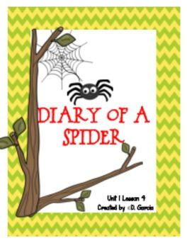 """If you are implementing the Journeys Reading Series this supplemental unit will make the story """"Diary of a Spider"""" much easier and fun for you and your students. Items can be used for literacy workstations, whole group instruction or cooperative learning. These activities can be used with the newer or older version of Journeys."""