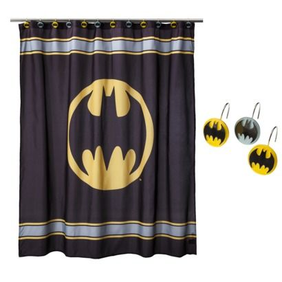 Batman Shower Curtain With Hooks Set $30 for Jeran