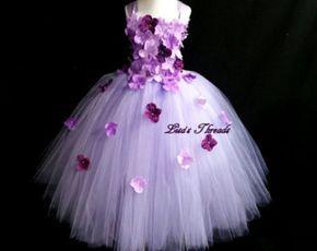 Vestido de color rosa niña de las flores / rosa por LisasThreads