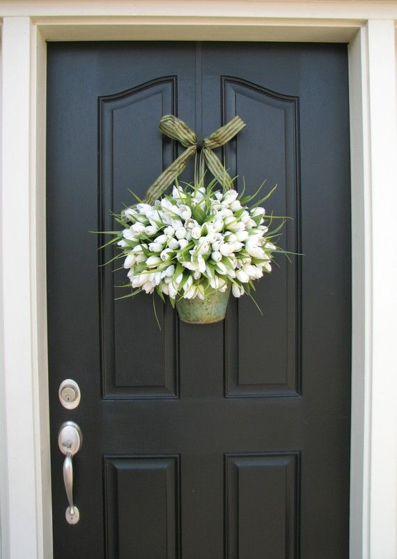 Spring Tulips Farmhouse Tulips Front Door Decor By