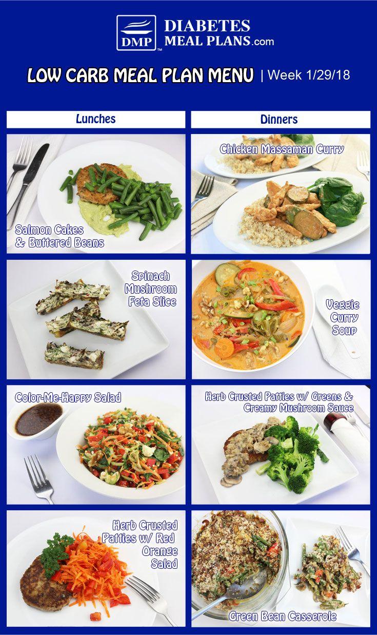 menu for low car diet for diabetics