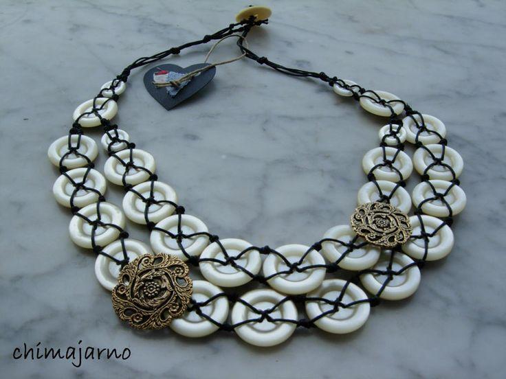 Button Jewellery by Chimajarno #Jewellery #button