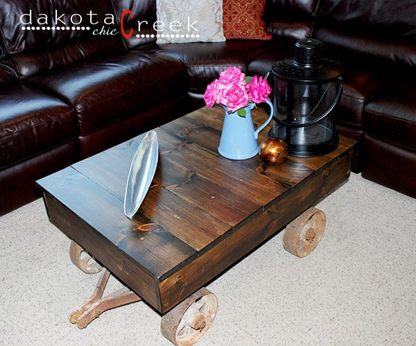 Build your own factory cart coffee table