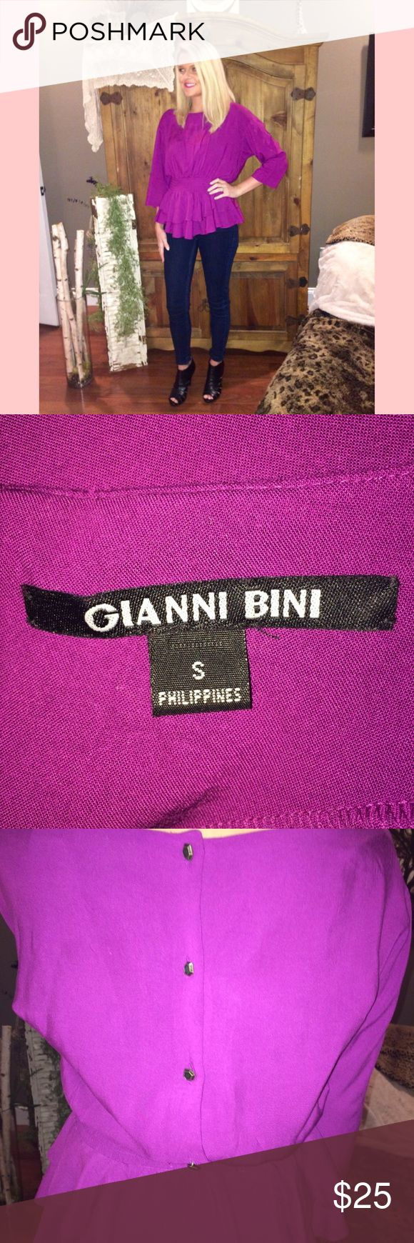 Gianni Bini fuchsia blouse • small • super chic✨ Gianni Bini fuchsia blouse • small • super chic✨  • no trades • offers welcome Gianni Bini Tops Blouses