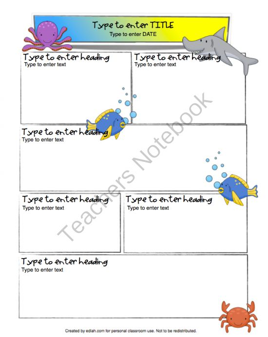 cece35132fdd21dad9d70bdbead0450f--newletter-newsletter-template Ocean Themed Newsletter Template on microsoft word, free printable monthly, free office, classroom weekly, fun company,