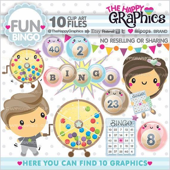 80%OFF Bingo Clipart Bingo Graphics Commercial Use Bingo