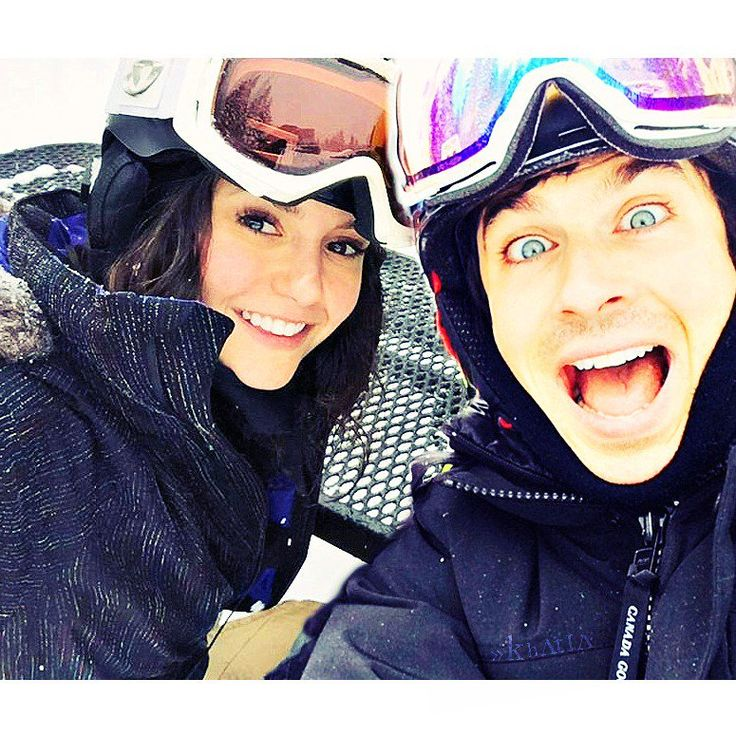 Their vacation when Nina dobrev left. but she left the two best boys in her life Paul Wesley and ian somerhalder