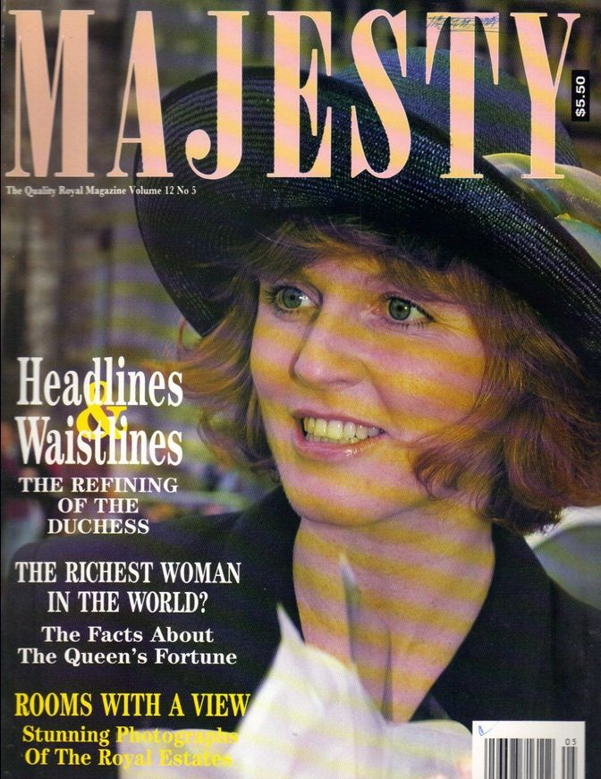 SARAH FERGUSON UK Majesty Magazine 5/91 Vol 12 No 5