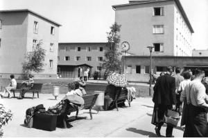 Das Notaufnahmelager im Juli 1958-Berlin Marienfelde