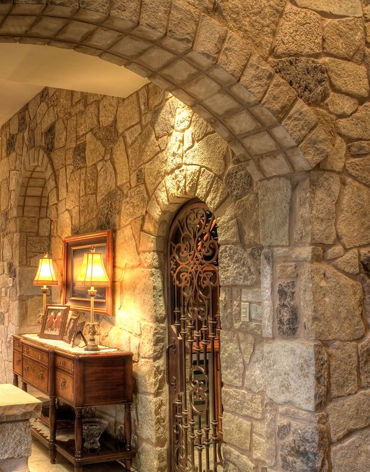 Stonework. Notice The Wine Cellar Tucked Away : ). Stone InteriorInterior  WallsTuscan DesignTuscan ... Part 89