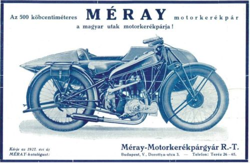 Méray. In: Automobil motorsport 2. évf. 1. sz. (1927.) / EPA OSZK