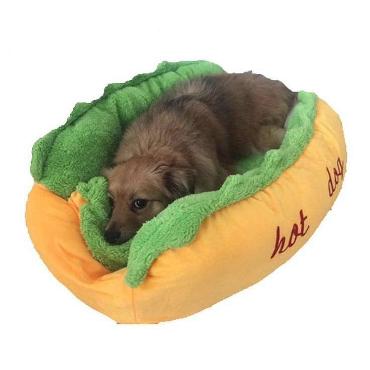 We have these cool Hot Dog Dog Beds available at The Pet Habitat Store. Come visit us and see what else we have!