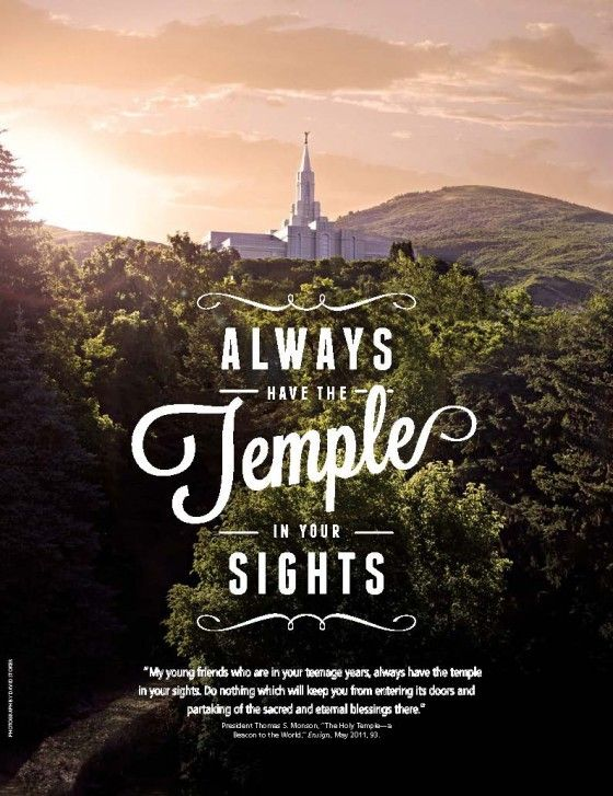 """LDS Mormon Temple - """"Always keep the temple in your sights."""" -President Thomas S. Monson #lds"""