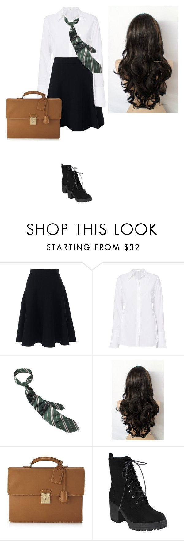 """school"" by idatherese04 on Polyvore featuring beauty, Lands' End, A.L.C. and Louis Vuitton"