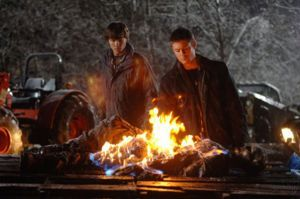 """""""Route 666""""  Season 1, Episode 13  aired: January 31, 2006 -  An old flame of Dean's calls Sam and Dean in to help her with a haunted truck killing off people in her town. ✪ #SPN"""
