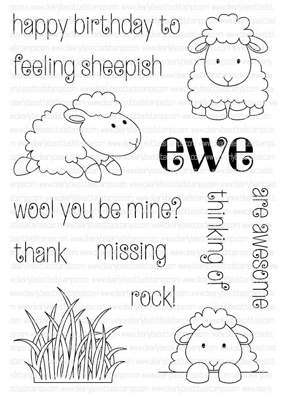 Clearly Besotted FEELING SHEEPISH Clear Stamp Set  zoom image