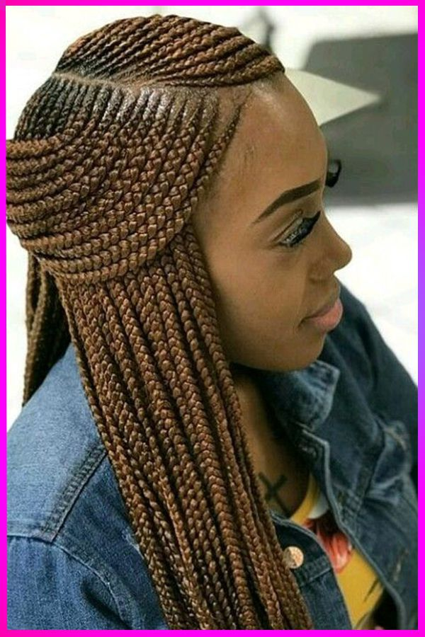 Amazing Long Length Smokey Brown Curly Braided Hairstyles For African American Womens In In 2020 Curly Braided Hairstyles Feed In Braids Hairstyles American Hairstyles