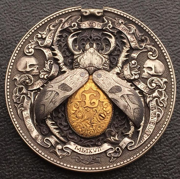 Gold Bug Coin Hobo Nickel by Roman Booten