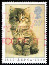 Great Britain #1300 Stamp - Kitten  Stamp - GB 1300-1