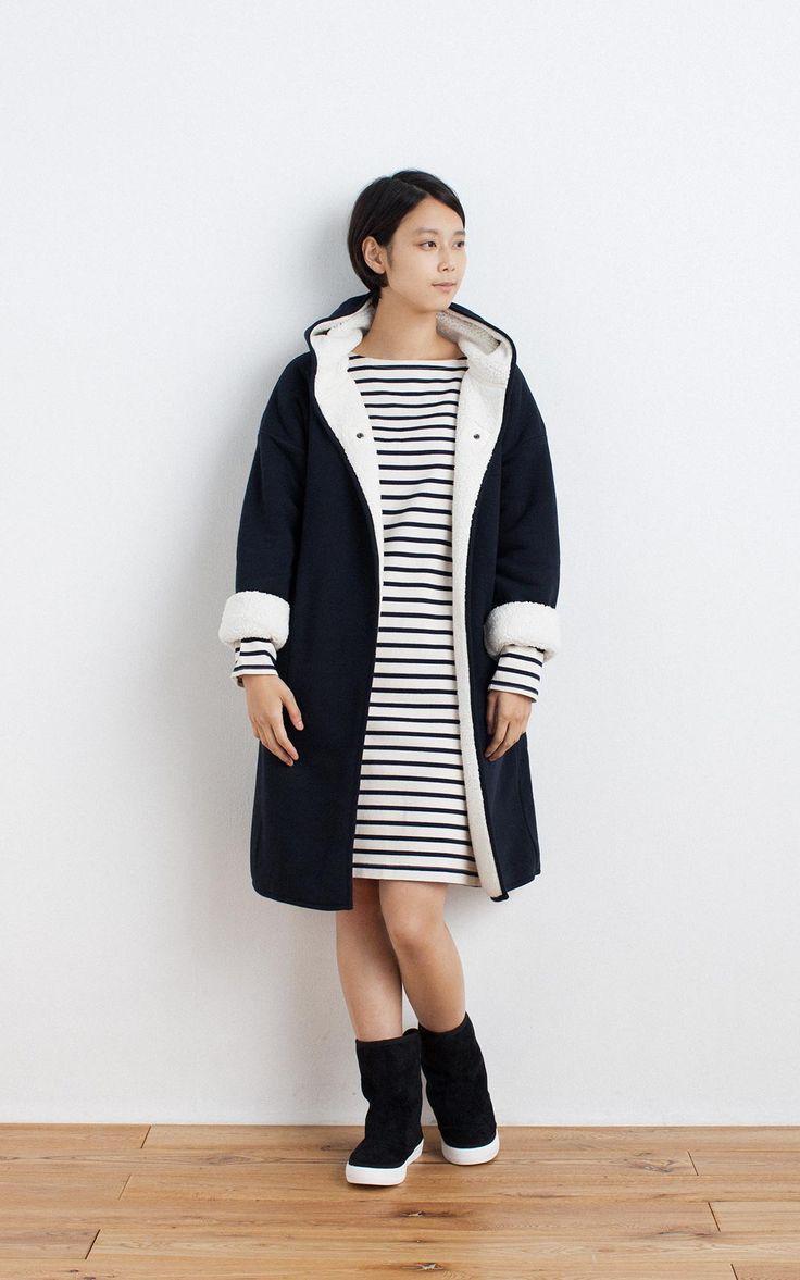 MUJI | OGC WIDE COUNT DRESS(BORDER)