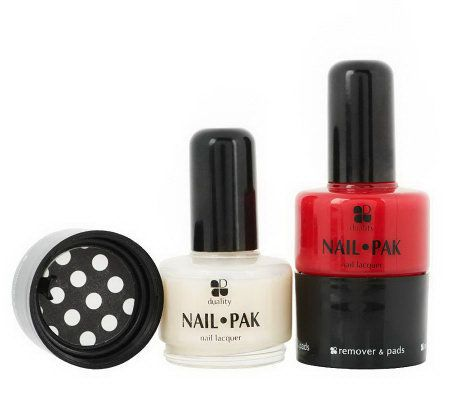 Set of 2 Nail Pak All n' 1 Polish Remover & File by Lori Greiner #SharkTank