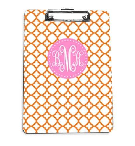 Monogrammed Clipboard Personalized Clipboard Personalized Clip Board Office  Accessory Preppy Clipboard School Supplies CLOVERS On Etsy