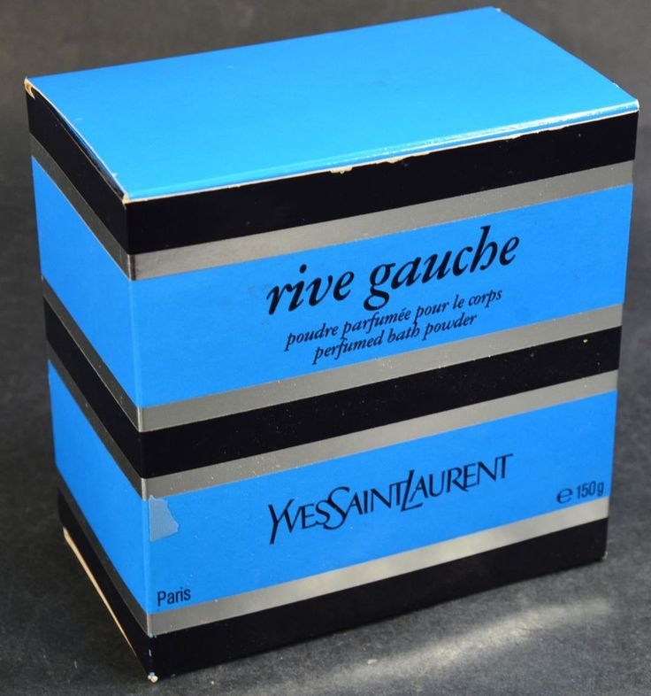 Vintage Yves Saint Laurent Rive Gauche Perfumed Bath Powder - Boxed and Unused