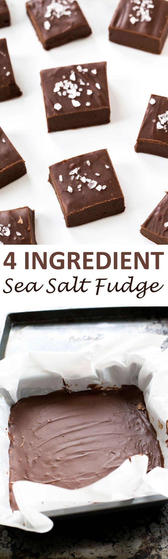 4 Ingredient Fudge with Sea Salt