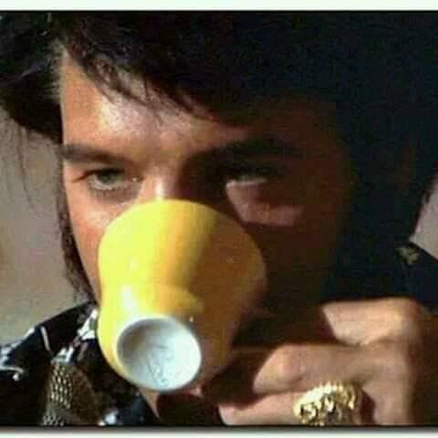 Rise'n' Shine and have a cup of coffee with Elvis  !!