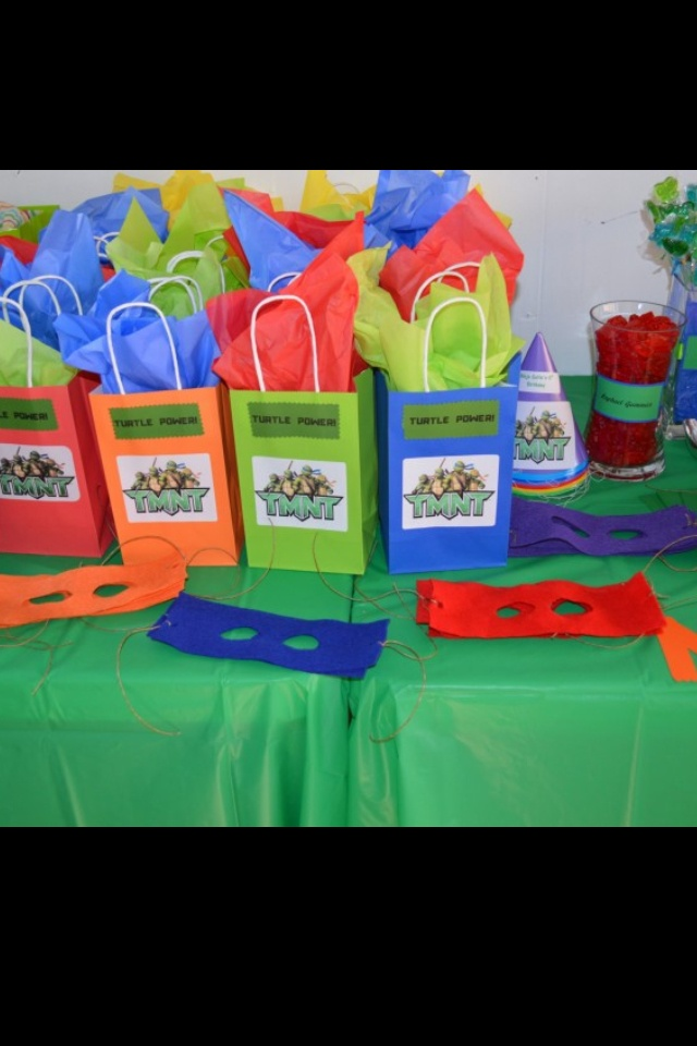 Child Ninja Turtles Face Mask Felt Sheets From Michaels Cut Out Eyes S On The Ends Of Tie String To Diy Birthday