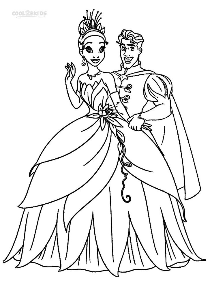Printable Princess Tiana Coloring Pages For Kids