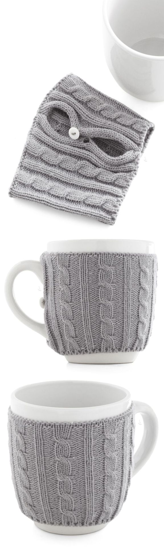 Snug mug - a coffee cup with a sweater! Keeps your tea warm #product_design