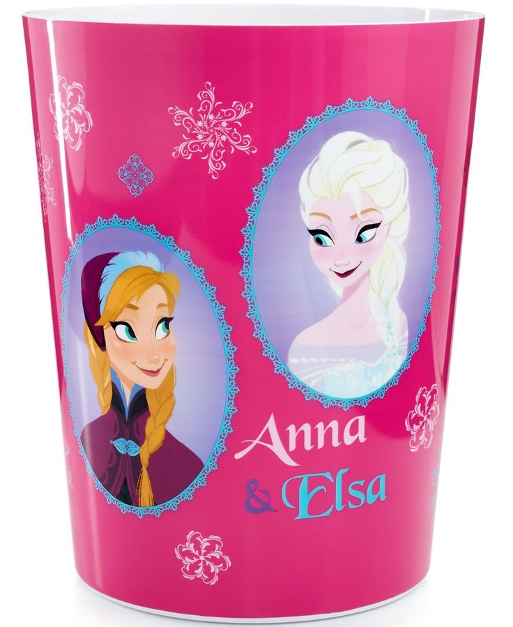 Disney's Frozen, Snowflakes Trash Can - 19 Best Images About Frozen Bathroom Decor For My Camilla On Pinterest
