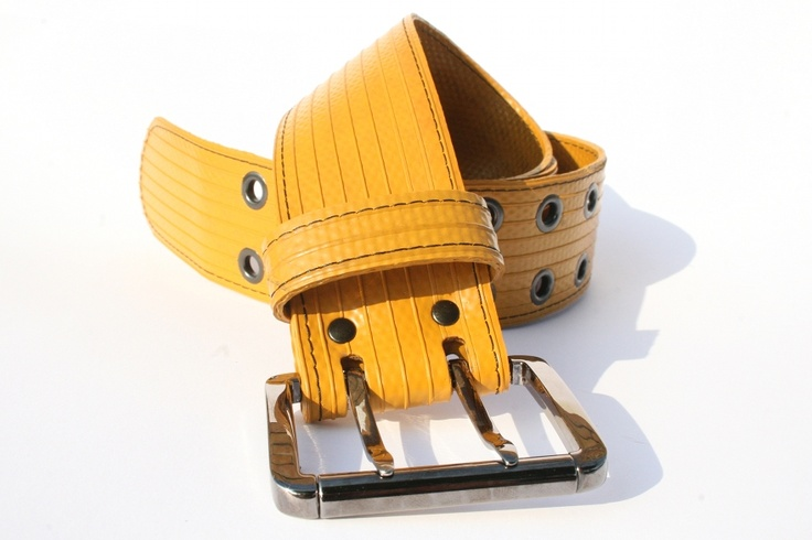 The Elvis & Kresse Big Yellow belt is made from genuine decommissioned fire-hose. The Big Yellow has an Italian made 2 pronged buckle in a gun metal finish, this is the top of the range. With matching gun metal eyelets and heavy weight stitched edge, this 4cm belt really makes a bold statement.