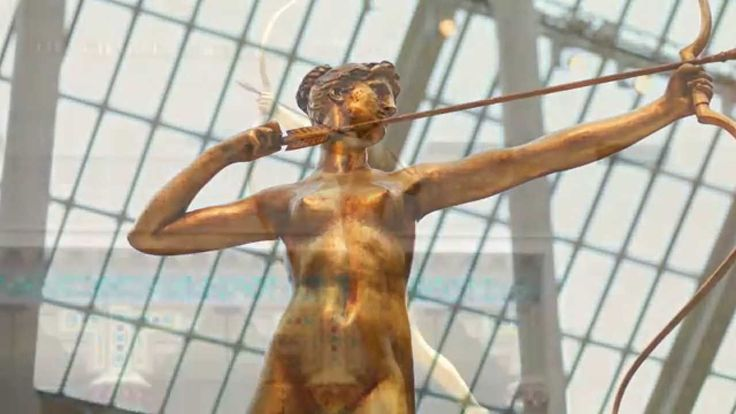 """A Timeless Replica   """"There's a very pleasing amalgamation of lines and forms in this piece."""" —Thayer Tolles, curator   For his only female nude, Saint-Gaudens selected Diana, the Roman goddess of the hunt and the moon, artfully aiming her bow and arrow. Poised on tiptoe, she is fleetingly static, depicted in a split-second moment of physical and narrative suspense. #MetViewpoints"""