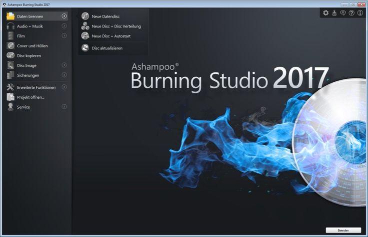 """Ashampoo Burning Studio Mit dem """"Ashampoo Burning Studio 2017"""", kostenlose Vollversion, brennen Sie Musik, Videos und andere Daten auf CD, DVD und Blu-ray-Discs. Auch die passenden Cover, Booklets und Etiketten lassen sich mit dem Brennprogramm entwerfen und drucken. Das """"Ashampoo Burning Studio"""" kann außerdem Audio-CDs auslesen und Backups von Dateien und Ordnern anlegen. Per 1-Klick-Funktion sichern Sie Daten von Mobilgeräten und Tablets wie iPhone oder i"""
