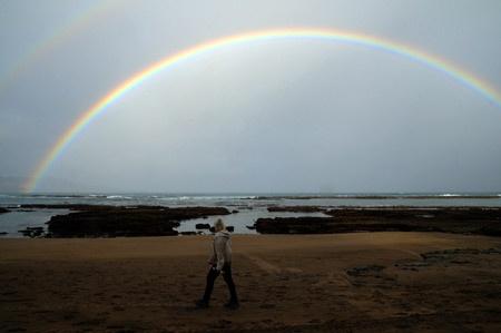 Otoño y sus mañanas llenas de arco iris.