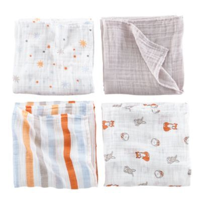 It's a Wrap Swaddling Blanket Set (Forest)  | The Land of Nod #FeatherYourNest