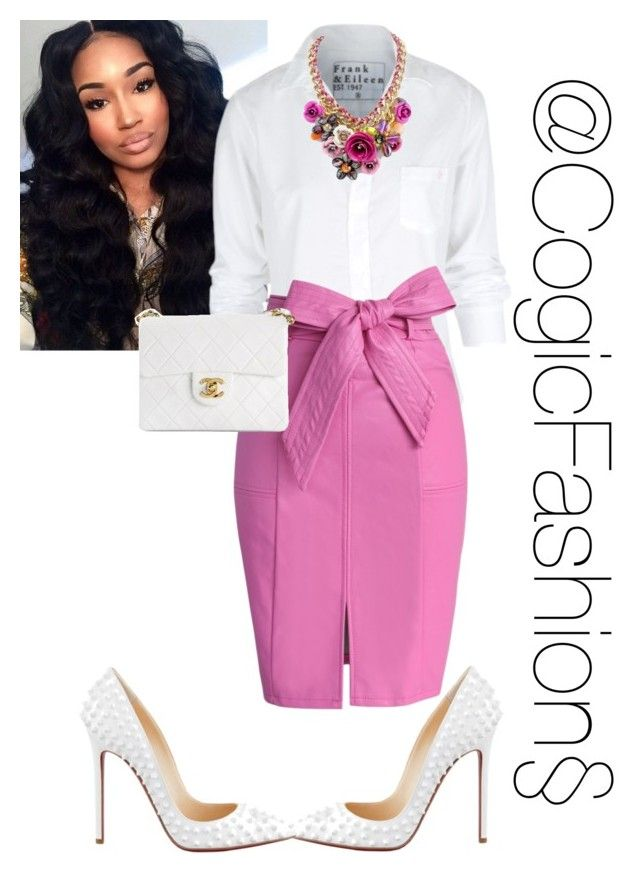 """Church"" by cogic-fashion ❤ liked on Polyvore featuring Frank & Eileen, Chicwish, Christian Louboutin and Chanel"