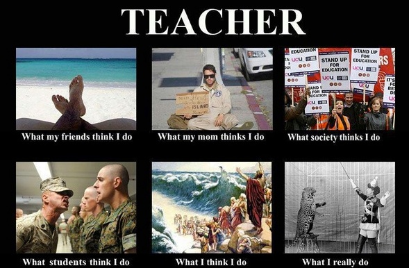 Do you agree with these perceptions of teachers, of your own job?