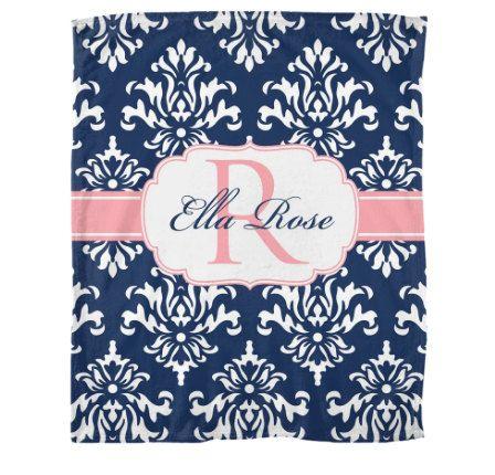 """50"""" x 60"""" Monogrammed Fleece Blanket ~ Monogram Blanket ~ Monogrammed Baby Blanket ~ Monogrammed Dorm Blanket ~ Personalized Fleece Blanket"""