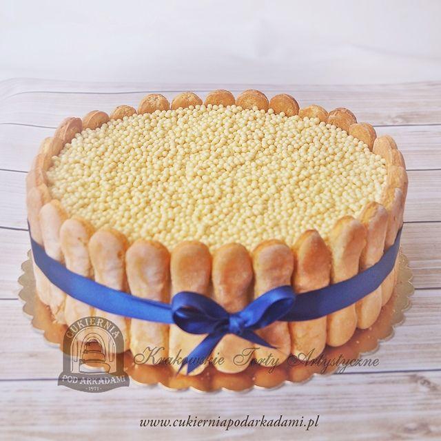51BA. Tort z biszkoptami i kulkami ryżowymi. Cake with biscuits and rice balls.