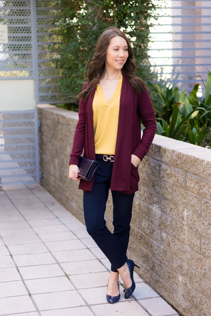 How to Style a Burgundy Cardigan Three Ways   burgundy cardigan outfit ideas   petite fashion and style blog   Gibson long fleece cardigan   burgundy and mustard yellow   burgundy and navy blue outfits   lush tonic blouse   Ann Taylor floral blouse   Talbots reversible belt   Aquatalia waterproof boots   madewell tee ashen silver