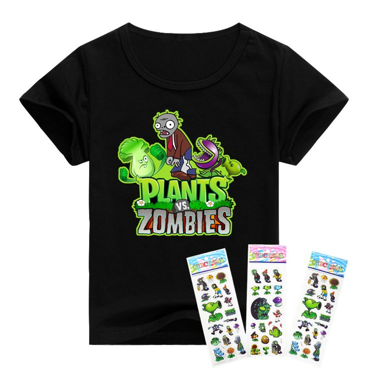 Children t shirts minecraft / plants vs zombies boys clothing pvz cartoon game pattern  boys clothes cotton O-Neck T-shirt #>=#>=#>=#>=#> Click on the pin to check out discount price, color, size, shipping, etc. Save and like it!