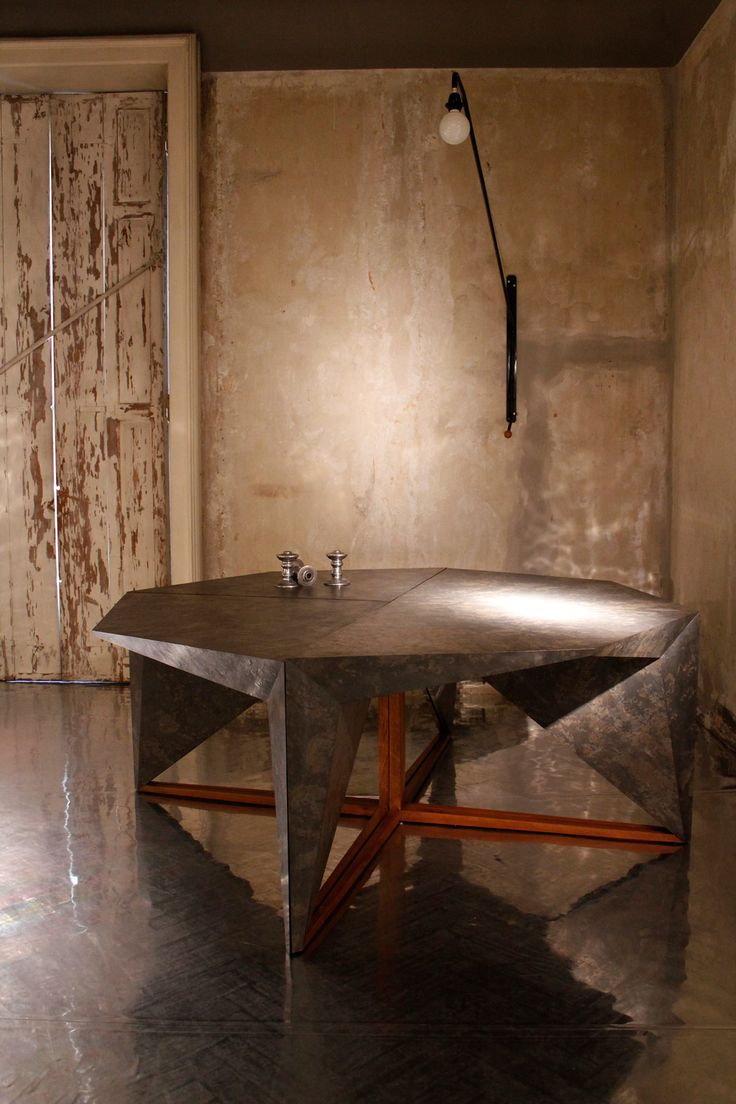 Gunjan Gupta, Rock Dining Table   2014 Limited Edition of n.12 pieces   2 AP   1 Prototype, MDF structure, slate veneer , W 203 x D 203 x H 76 cm, Country of Realization - India #gunjangupta #rockdiningtable #rock #diningtable #dining #table #limitededition #mdfstructure #mdf #slateveneer #madeinindia #indiandesigner #india #erastudioapartmentgallery #erastudio #gallery #design #interiordesign #milan #italy